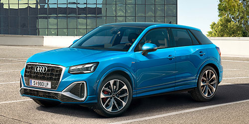 Ein Audi Q2 in der Frontansicht